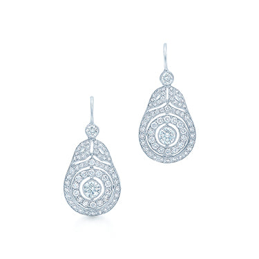 Kwiat Splendor Drop Diamond Earrings