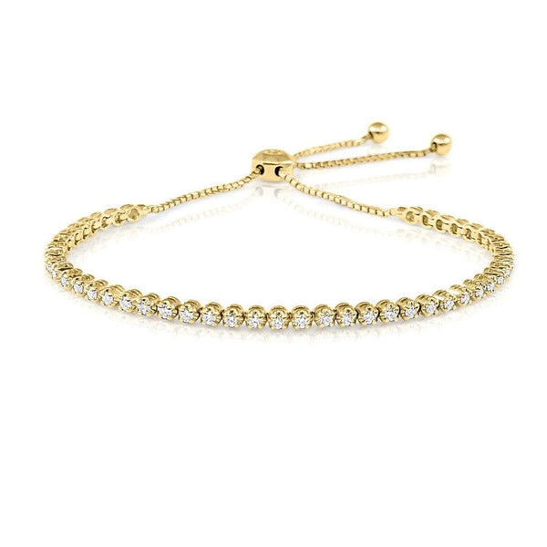 Yellow Gold Diamond Bolo Bracelet