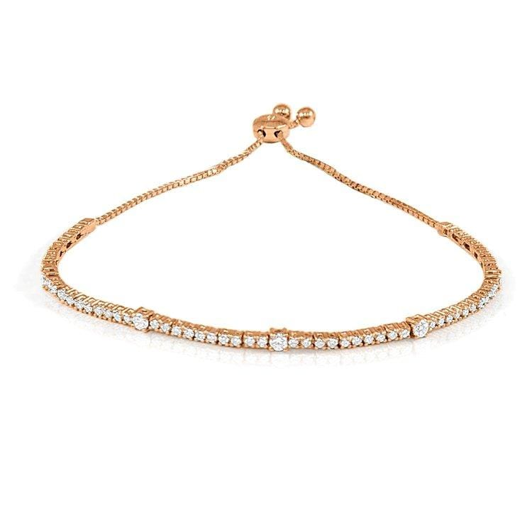 Rose Gold Diamond Bolo Bracelet