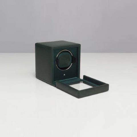 CUB WATCH WINDER WITH COVER- GREEN