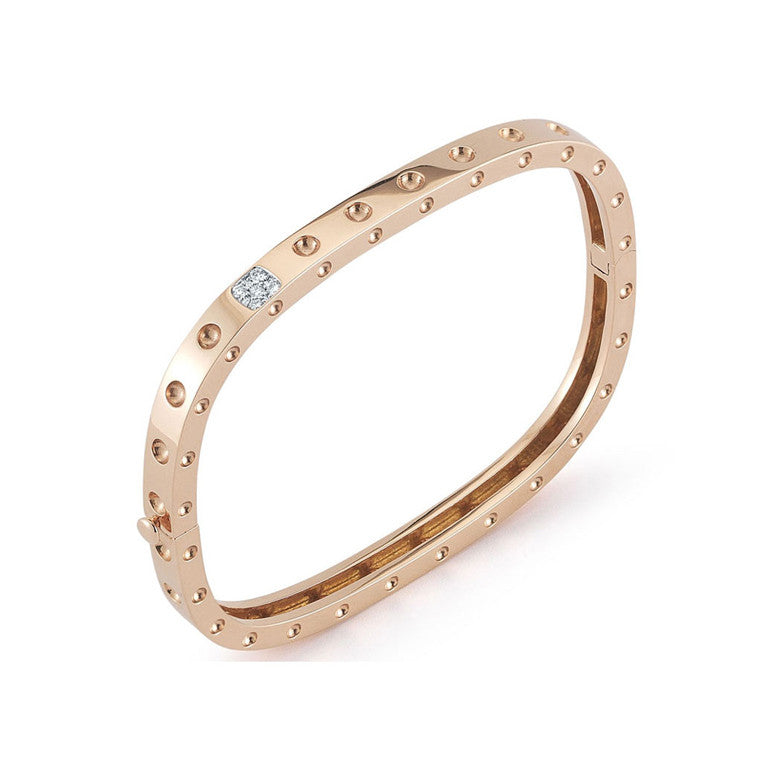 18k Rose Gold Pois Moi Diamond Bangle - Alvin Goldfarb