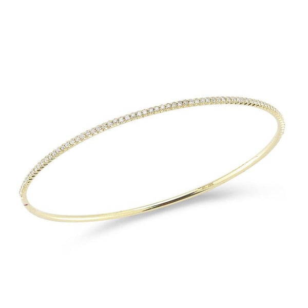 18k Yellow Gold Oval Diamond Bangle