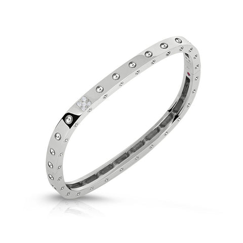 18k White Gold Diamond Pois Moi Bangle