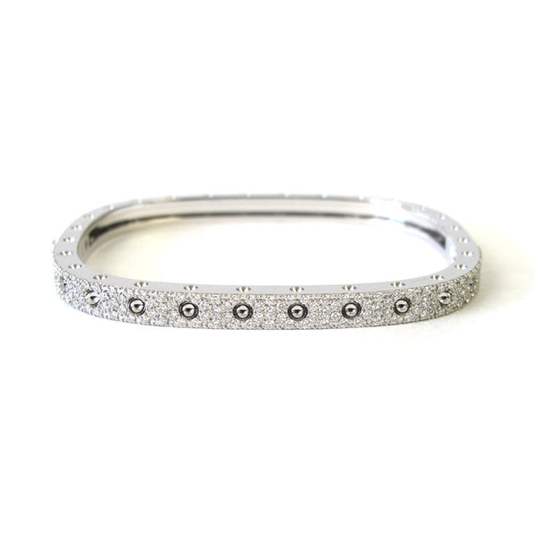 18k White Gold Diamond Pois Moi Single Bangle