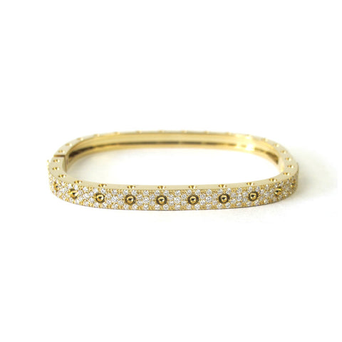 18k Yellow Gold Diamond Pois Moi Single Bangle