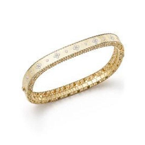 Roberto Coin Princess Yellow Gold Diamond Bangle Bracelet - Alvin Goldfarb