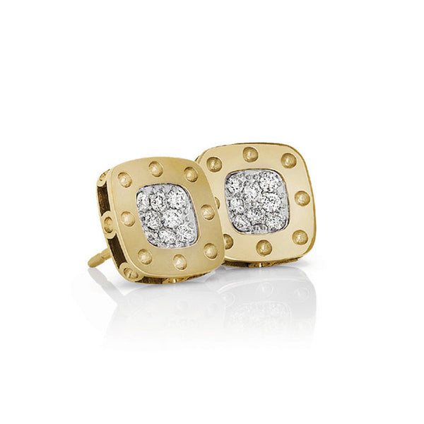 18k Yellow Gold Diamond Pois Moi Stud Earring