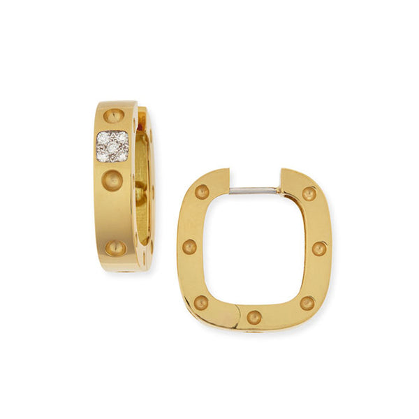 18k Diamond Pois Moi Square Hoop Earring - Alvin Goldfarb