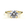 18k Yellow Gold Petite Crown Lace Diamond Ring