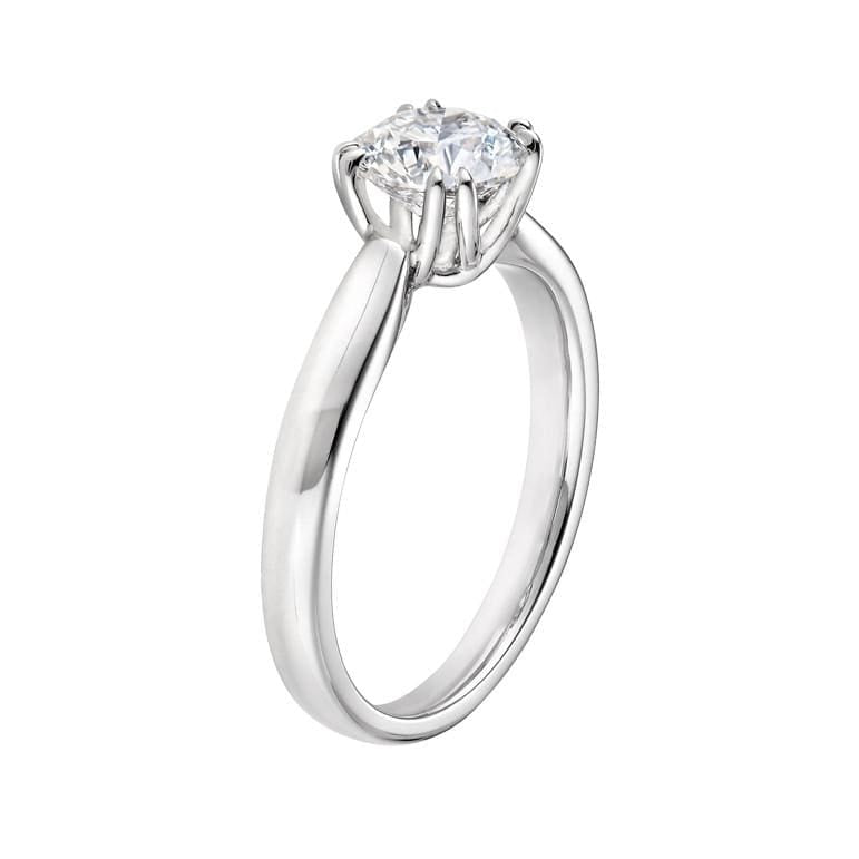Platinum Split Prong Diamond Ring