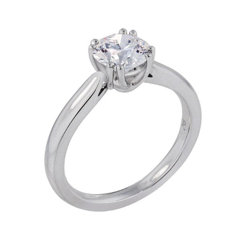 Platinum Heritage Mounting Round Diamond Ring