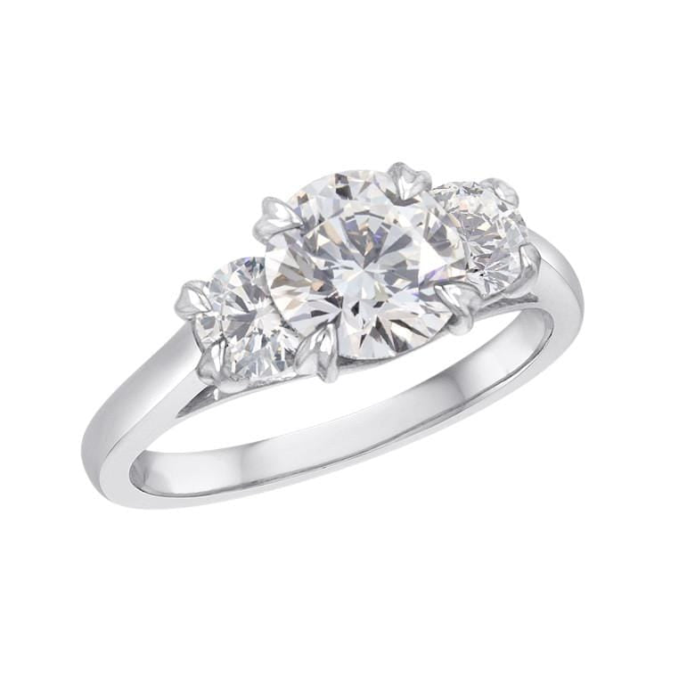 Platinum Daphne Three Stone Diamond Ring