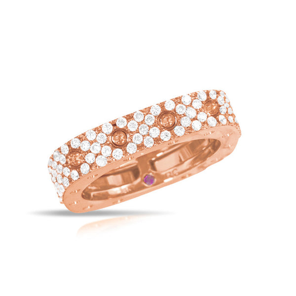 18k Rose Gold Pave Diamond Pois Moi Ring