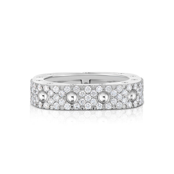 18k White Gold Diamond Pois Moi Ring - Alvin Goldfarb