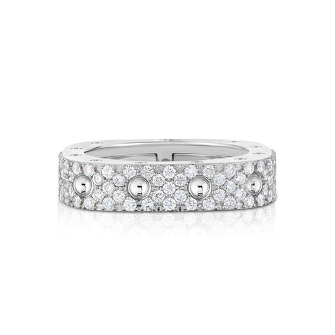18k White Gold Diamond Pois Moi Ring