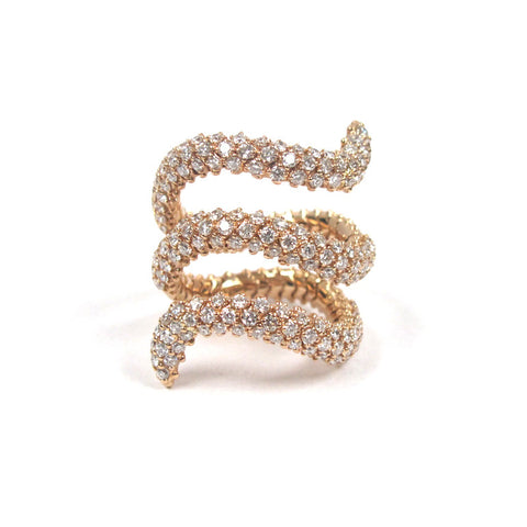 18k Yellow Gold Diamond Flex Ring