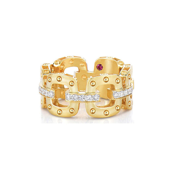 18k Yellow Gold Pois Moi Diamond Band - Alvin Goldfarb