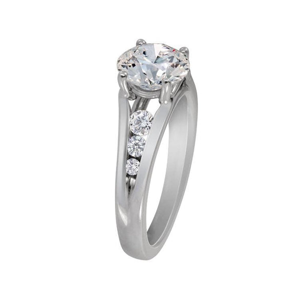 Platinum Tesoro Traditional Diamond Semi Mount Ring