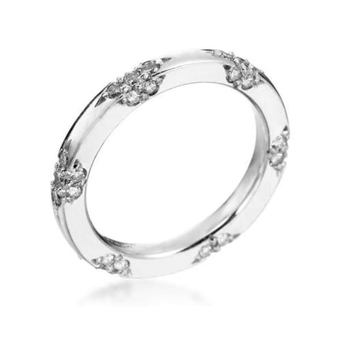 Platinum Lace Diamond Band