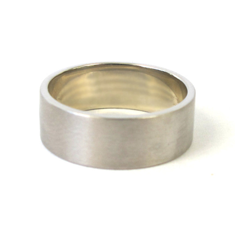 14k White Gold Flat Band