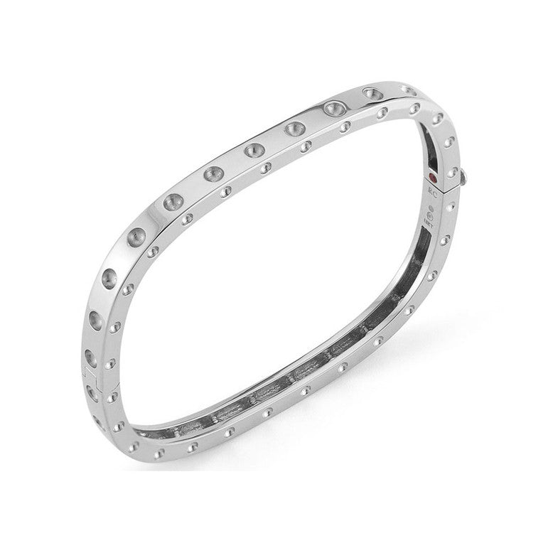 18k White Gold Pois Moi Bangle