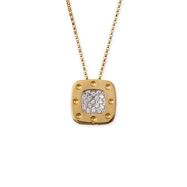 18K Yellow Gold Diamond Pois Moi Pendant - Alvin Goldfarb