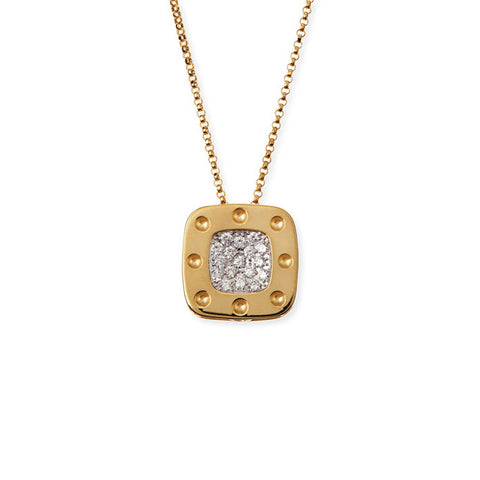 18K Yellow Gold Diamond Pois Moi Pendant