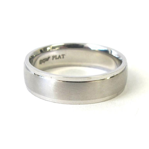 Platinum Flat Brushed Band