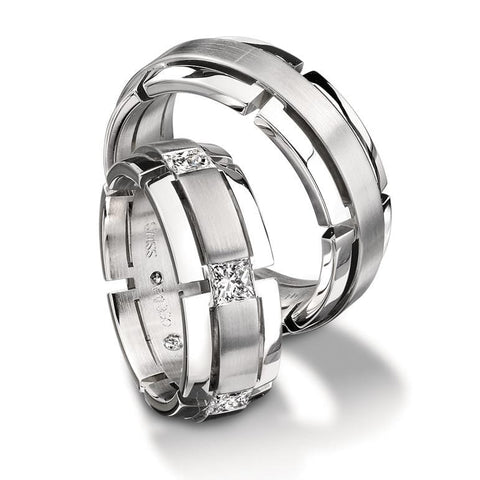 Platinum Magiques Wedding Band