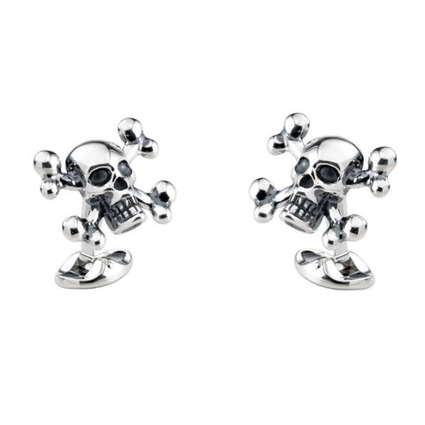 Sterling Silver Cross and Bones Cufflink