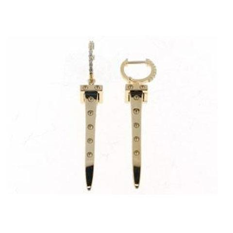 Roberto Coin Pois Mois Nail Diamond Earrings