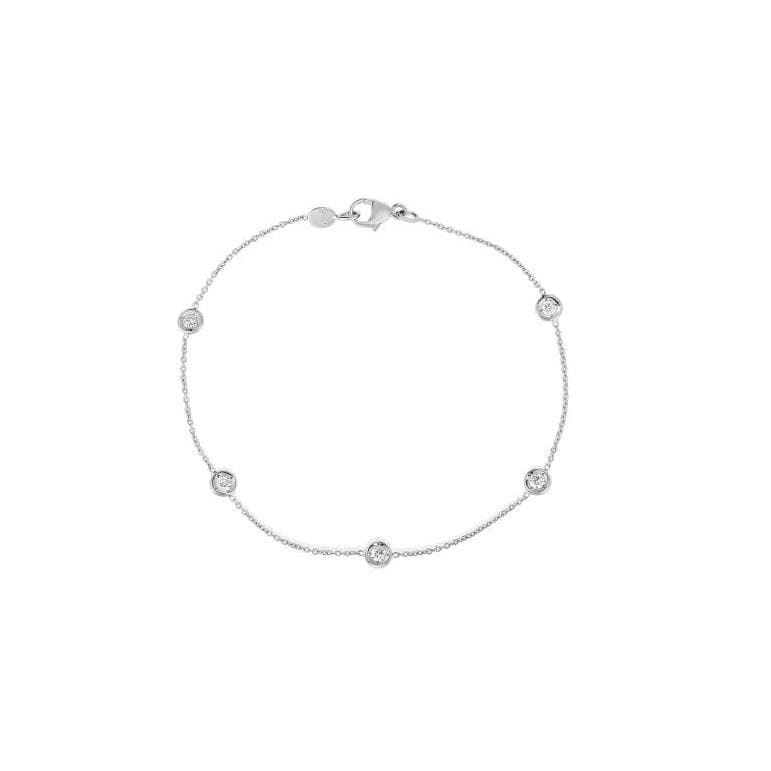 Roberto Coin 5 Diamond Station Bracelet