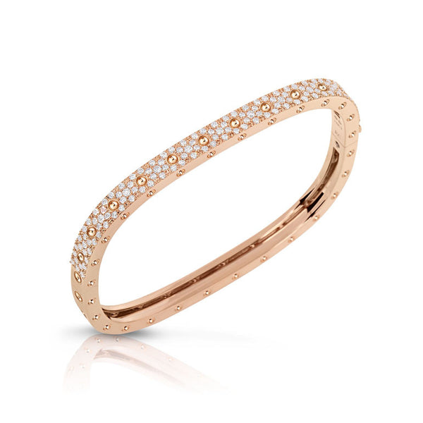 18k Rose Gold Diamond Pois Moi Single Bangle