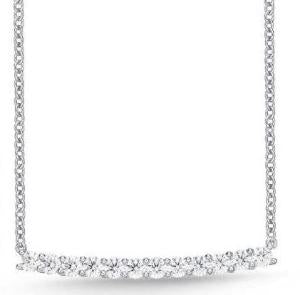18K Diamond U-Basket Necklace