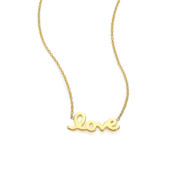 18k Yellow Gold Love Letter Necklace