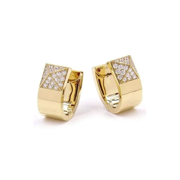Roberto Coin Sauvage Prive Diamond Huggie Earrings