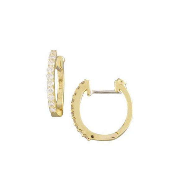 Yellow Gold Perfect Diamond Hoops