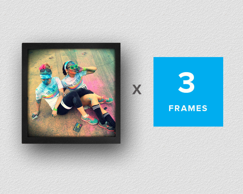 3 picture frames on wall extra large fotobit 4x4 gift pack 3 frame kit customize your photo collage frames home wall decor fotobit