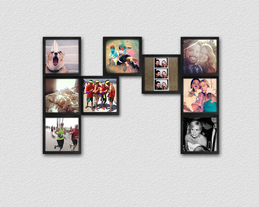 Customize Your Photo Collage Frames | Bedroom Wall Decor | FOTOBIT ...