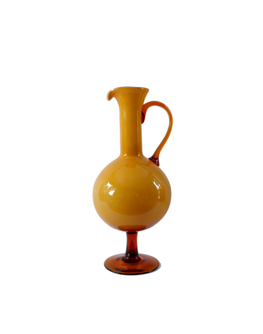 Italian Butterscotch Pedestal Ball Pitcher