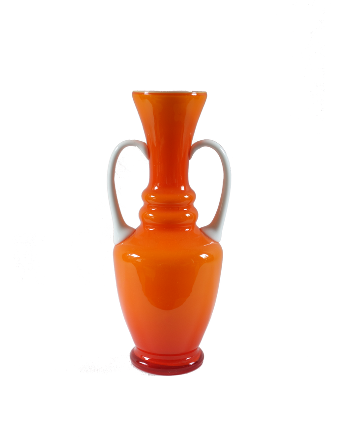 Empoli Orange Two-Tone Vase