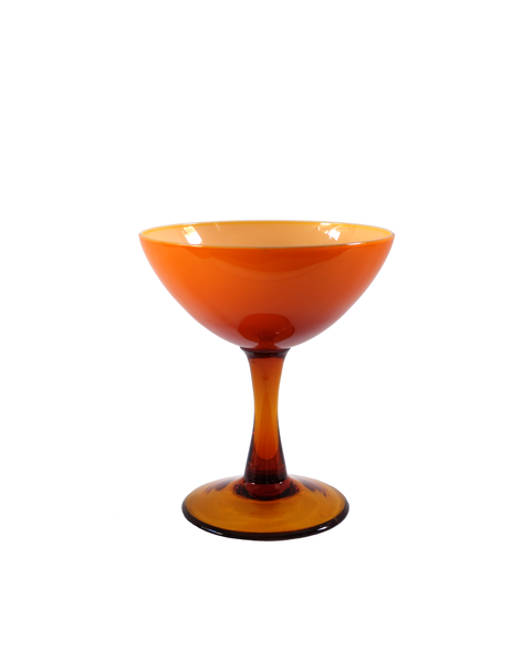 Orange Pedestal Candy Dish