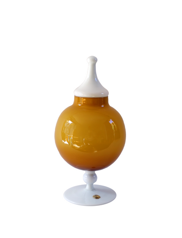 Empoli Amber Two-Tone Apothecary Lidded Jar