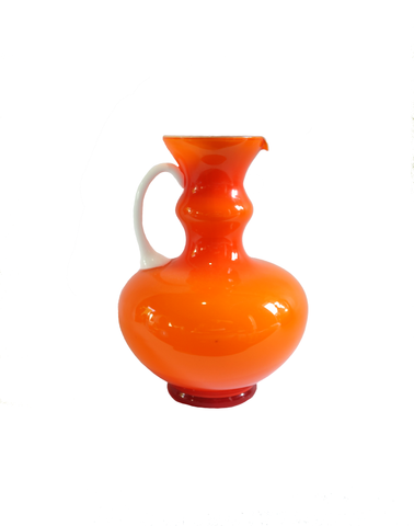 Empoli Orange Two-Tone Wide Pitcher