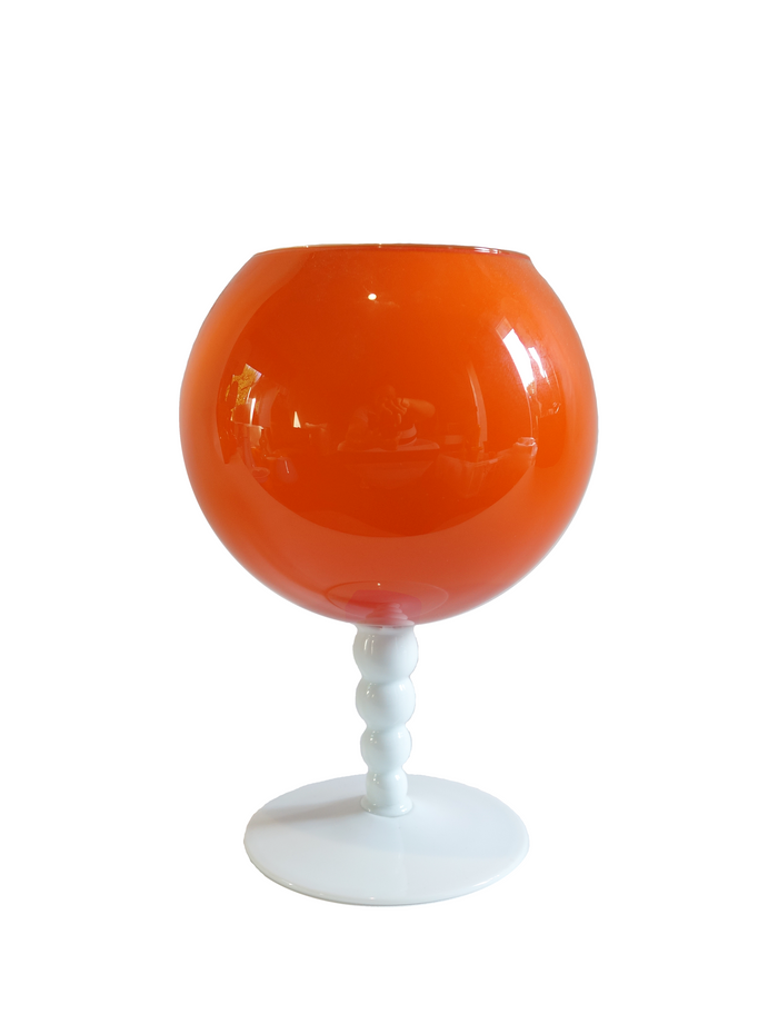 Empoli Orange Two-Tone Goblet