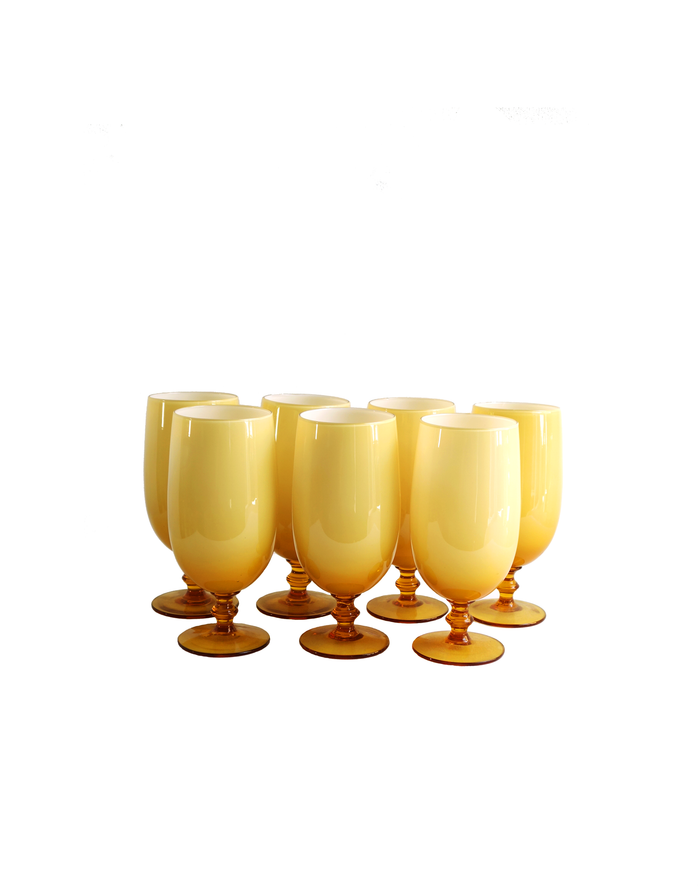 Empoli Amber Cased Drinking Glasses - 7 Pcs