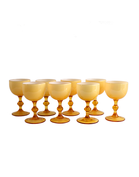 Empoli Amber Cased Cordial Glasses - 8 Pcs