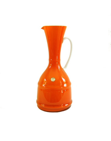 Empoli Orange Two-Tone Pitcher