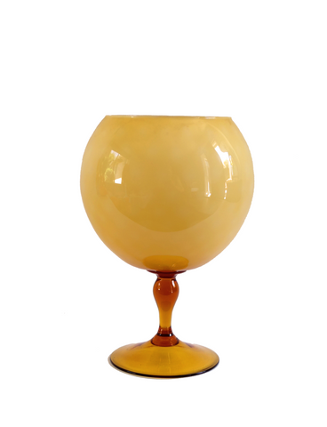 Empoli Amber Cased Quilted Goblet