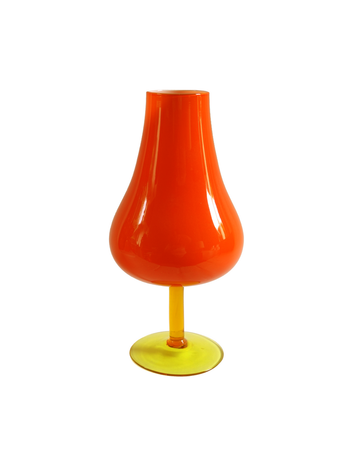 Empoli Orange Goblet Vase No. 1